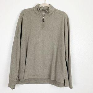 J. Crew Cream Quarter Zip Pullover Top Hi-Low XL